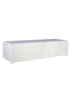 Lounge Bank White Line afmeting 180 x 60 x 40 cm