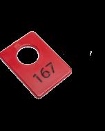 Garderobenummers kunststof per 100