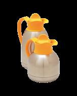 Thermoskan dubbelwandig 1 liter -Gele dop-