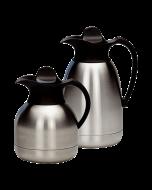 Thermoskan dubbelwandig 1 liter -Zwarte dop-