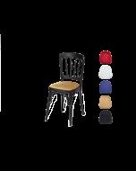 """Luxe stoel """"Napoleon"""" zwart met diverse zittingen."""