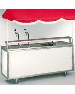 verrijdbaar bierbuffet 200*82 cm drooggekoeld 0,75 pk 2 taps