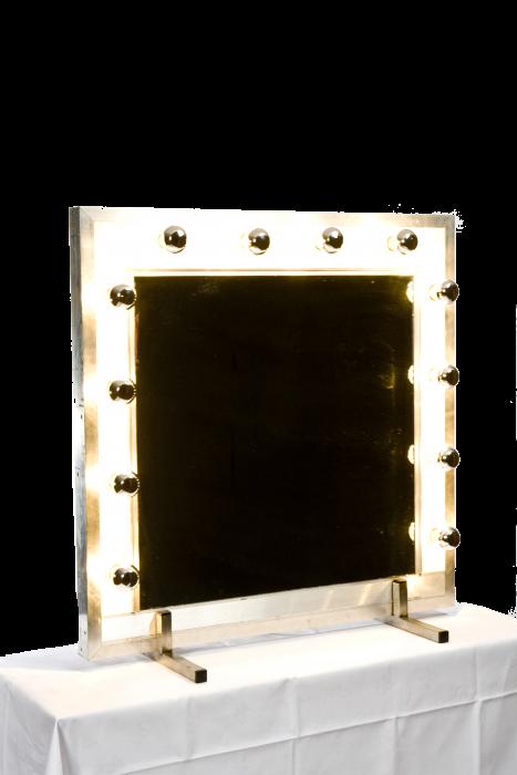 Kaptafel spiegel met kopspiegel lamp verlichting