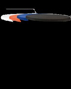Stretch tafelblad cover tbv statafel kleed in de kleuren Oranje, Blauw, Wit, Zwart en Champagne