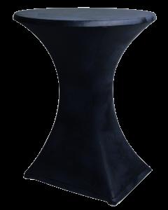 Stretch statafelkleed Zwart Leder