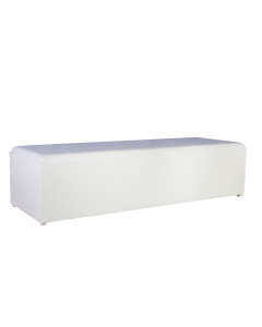 Lounge Bank White Line afmeting 180 x 60 x 40 cm