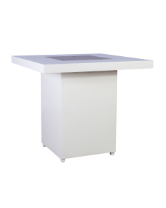 Salon tafel White Line afmeting 82 x 82 x 72 cm