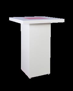 Sta tafel White Line met LED verlichting afmeting 82 x 82 x 110 cm