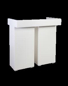 DJ Booth White Line 114 x 60 x 100 cm