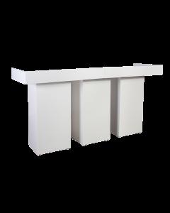 DJ booth XXL White Line afmeting 202 x 82 x 110 cm