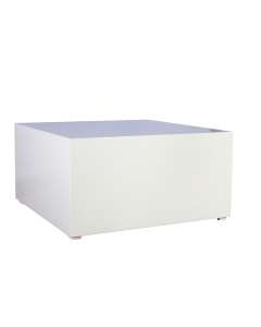 Bijzet tafel Groot White Line afmeting 100 x 100 x 50 cm