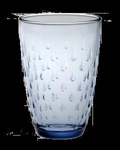 Blauw waterglas druppel 33 cl