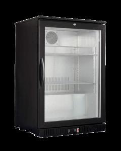 Display koeler enkel deurs black 130 Ltr