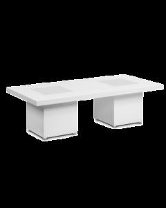Tafel Laag White Line afmeting 200 x 80 x 80 cm