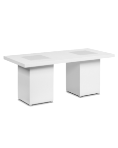 Dinertafel hoog White Line afmeting 202 x 82 x 110 cm