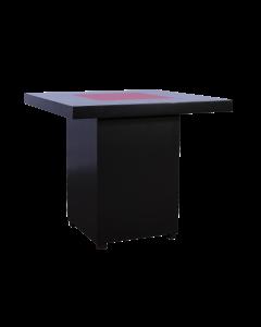 Salon tafel Black Line met LED afmeting 80*80*80 cm