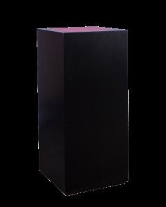 Sokkel Hoog Black Line met LED verlichting afmeting 50*50*110 cm