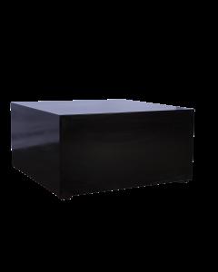 Bijzet tafel Groot Black Line afmeting 100*100*50 cm