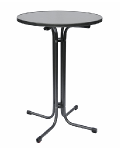 Statafel grijs Ø 85 cm 112 cm hoog