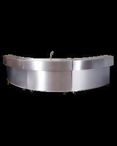 Bar Pascal 1/3 cirkel 140 x 95 x 125 cm neutraal unit