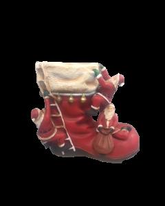 Grote kerstmannen op schoen decoratie 60 x 55 cm