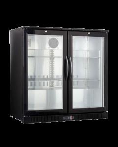 Display koeler 2 deurs black