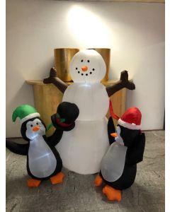 Opblaas sneeuw pop kerst.