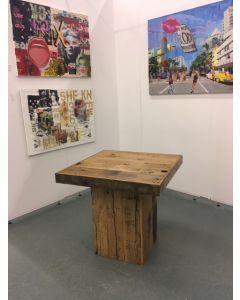 Vintage tafel 80x80x76 cm