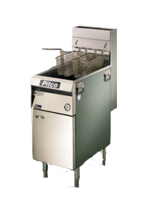 Friteuse staand model Pitco 2 * 8 ltr Propaan