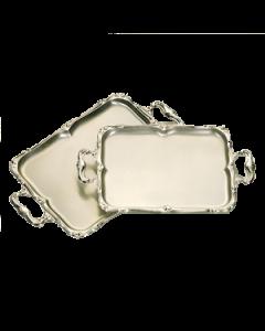 Hors d' oeuvreschaal Barok met handgrepen 40*30 cm  RVS