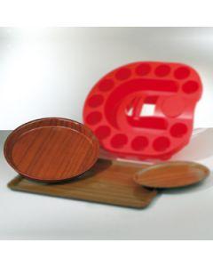 dienblad diameter 36 cm hout