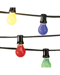 prikkabel 10 meter inclusief 12 gekleurde LED lampen