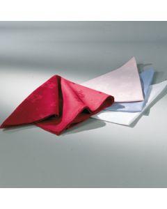 Servet 50 * 50 Damast in kleuren wit, Blauw, Roze, Rood, Caramel, Donkerblauw, Geel
